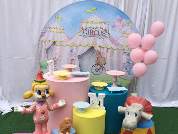 Tema Circo Candy ColorDecoração Circo Candy Color